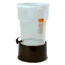 Carlisle 222903 - Round Dispenser W/Base 5 Gallon, Black