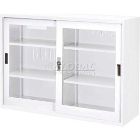 "Shuter Clear View Cabinet DU-118G - Glass Door w/Digital Lock, 46-1/2""W x 15-3/4""D x 34-5/8""H, White"