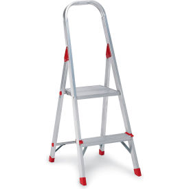 Louisville Type III Aluminum Platform Ladder - 2 Step - L-2346-02