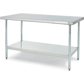 "Relius Solutions  430 Stainless Steel Worktable - 96X30"" Top - Galv. Legs And Lower Shelf- Pkg Qty 1"