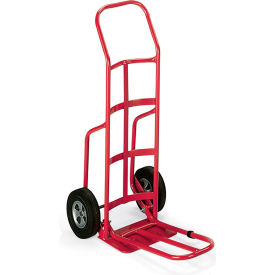 """Milwaukee Steel Hand Trucks With Continuous Handle - 10"""" Full-Pneumatic Wheels - 14X10"""""""