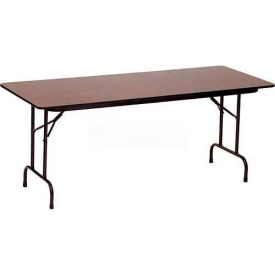 "Correll Folding Table - Laminate - 72""L x 30""W - Rectangle - Gray Granite"