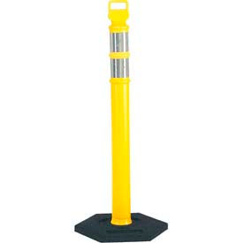 "45"" Yellow Ez Grab Delineator Post W/2ea 3"" Hi Reflective"