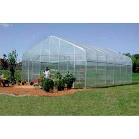 Majestic Greenhouse 20'W x 96'L w / Top / Side / Polycarbonate