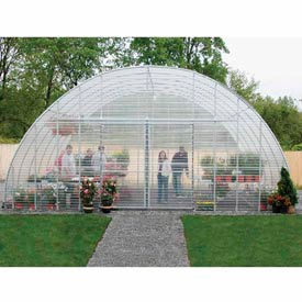 "Clear View Greenhouse Kit 20'W x 10'7""H x 20'L - Natural Gas"