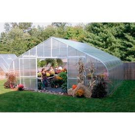 30x12x96 Solar Star Greenhouse w/Poly Ends and Drop-Down Sides, Gas Heater