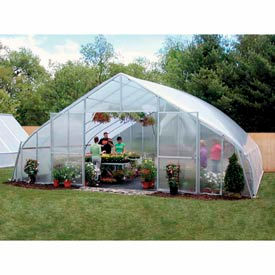 34x12x96 Solar Star Greenhouse w/Poly Ends and Roll-Up Sides