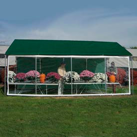 WeatherShield Commercial Canopy 14'W x 30'L Tan