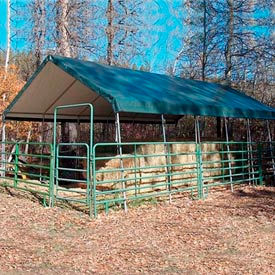 WeatherShield Commercial Canopy 18'W x 20'L Green