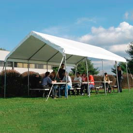 WeatherShield Commercial Canopy 18'W x 50'L Gray