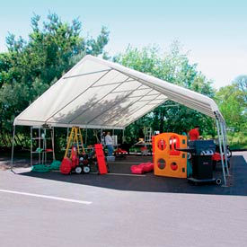 WeatherShield Giant Commercial Canopy 24'W x 60'L Gray