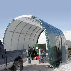SolarGuard Freestanding Building 14'W x 10'H x 28'L on Wheels Green