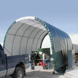 SolarGuard Freestanding Building 14'W x 14'H x 28'L on Wheels Gray
