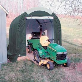 Mini Garage/Storage Shed 8'W x 8'H x 12'L Green
