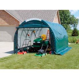 Mini Garage/Storage Shed 10'W x 8'H x 18'L Green