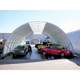 """Freestanding Poly Building 42'W x 17'3""""H x 60'L White 4'Rafter"""