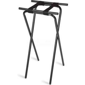 "Tray Stand, 19"" x 16"" Top x 31"" High, 2-1/4"" Black Straps 1"" Black Tubular Steel Frame (Single Pack)"