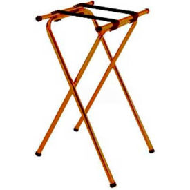 "Tray Stand, 19"" x 16"" Top x 31"" High, 2-1/4"" Brown Straps, Wide Base (Single Pack)"
