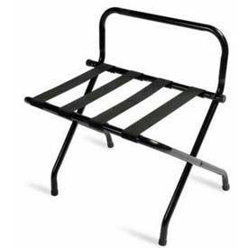 Luxury High Back Black Luggage Rack with Black Straps - 6 Pack - Pkg Qty 6