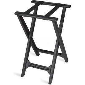 Tray Stand, folding, Black Straps, Black Plastic Frame, (Single Pack)