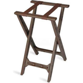 Tray Stand, folding, Brown Straps, Brown Plastic Frame, (4 Per Case)