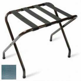 Flat Top Chrome Luggage Rack with Black Straps, 1 Pack