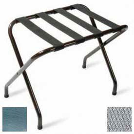 Flat Top Chrome Luggage Rack with Silver Straps, 6 Pack - Pkg Qty 6
