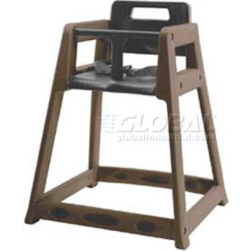 Koala Kare® Plastic High Chair with Casters, Brown, Assembled