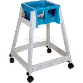 Koala Kare® KidSitter™ High Chair with Casters, Dark Brown Frame/Blue Seat