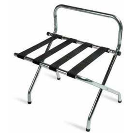 High Back Zinc Luggage Rack with Black Straps, 6 Pack - Pkg Qty 6