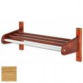 "30"" Wood Coat Rack w/ Wood Interior Top Bars & 1"" Hanging Rod, Light Oak"