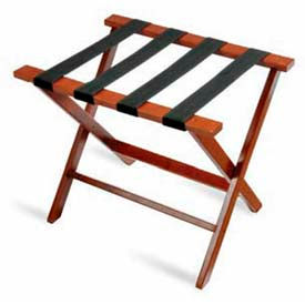 Flat Top Hardwood Series Luggage Rack - Cherry Mahogany - 1 Pack