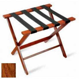 Flat Top Hardwood Series Luggage Rack - Dark Oak -1 Pack