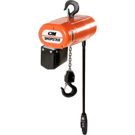 CM ShopStar Electric Chain Hoist W/Chain Container 1000Lb Cap 6