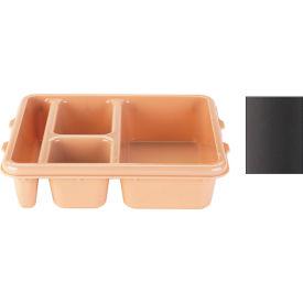 Cambro 9114CP167 - Tray 4 Compartment 9 x 11, Brown - Pkg Qty 24