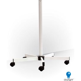 """Daylight™ 31-1/2""""H White Five Spoke Floor Stand With Wheels"""