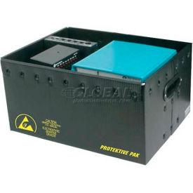 "Protektive Pak 39121 Plastek ESD Storage Container, 19-5/8""L x 16""W x 14-3/16""H"