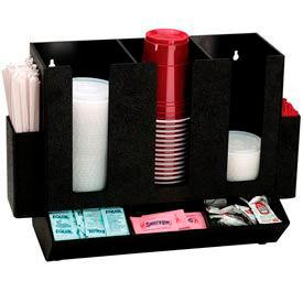 Dispense-Rite® Countertop Cup, Lid, Straw and Condiment Organizer