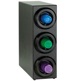 Dispense-Rite® Three Tier Countertop Cup Dispensing Cabinet - Black- Pkg Qty 1