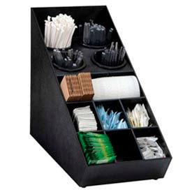 Silverware and Condiment Organizer, (13) compartments, black