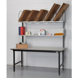 Basic Packing Bench, Maple Butcher Block Top, T-Mold Edge - 72 x 36