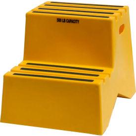 """2 étape étape plastique support - 18-1/4 jaune """"W x 24-1/2 «D x 19-1/2» H - ST217-14"""