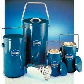 SCILOGEX DILVAC Blue Metal Cased Dewar Flask with Lid & Handle MS111, 1L Capacity