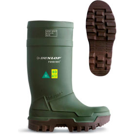 Dunlop® Purofort® Thermo+ Full Safety Men's Work Boots, Size 10, Green