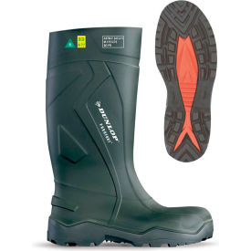 Dunlop® Purofort+® Full Safety Men's Work Boots, Size 14, Green