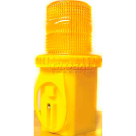 Dicke Safety UniLamp™ 6V Flashing, Amber Lens, with Photocell, UCW6S- Pkg Qty 1