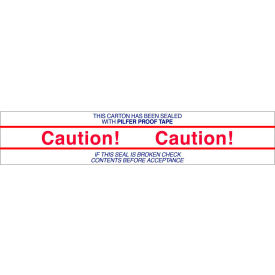 """Printed Tape """"Caution"""" 2""""W x 110 Yds White/Red/Blue - Pkg Qty 36"""