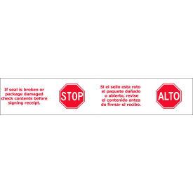 "Printed Tape ""Stop/Alto"" 2""W x 110 Yds White/Red - Pkg Qty 36"