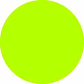 "Fluorescent Green Discs 1"" Dia."