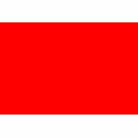 """3"""" x 6"""" Standard Red Rectangle"""